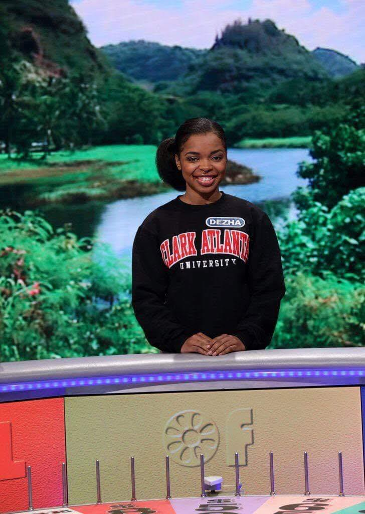 Dezha Lattimore represents CAU during Spring Break Week on Wheel of Fortune
